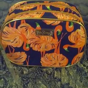 🎀 Lilly Pulitzer Flamingo Cosmetic Travel Bag 🎀